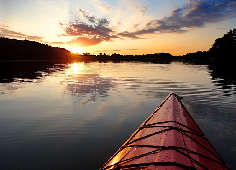 boat in lake