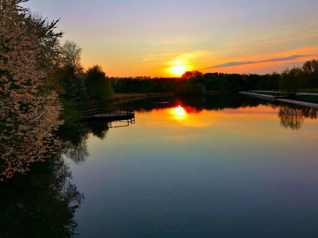 lake sunset